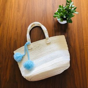 ALTRU Woven Tote Bag Cream & White